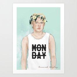 Flower crown Niall Art Print