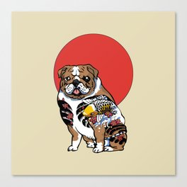 Yakuza English Bulldog Canvas Print