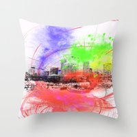 skyline Throw Pillows featuring Skyline by Fine2art