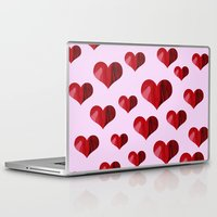 hearts Laptop & iPad Skins featuring Hearts by Marjolein