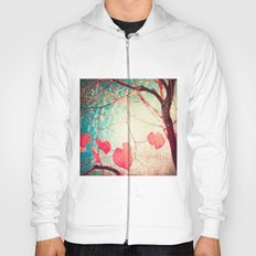 Tree autumn and blue textured sky Hoody