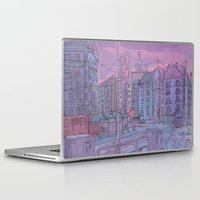 budapest Laptop & iPad Skins featuring Budapest through pencil by Zsolt Vidak