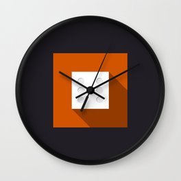 "Dice ""six"" with long shadow in new modern flat design Wall Clock"