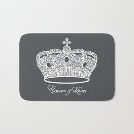 County of Kings   Brooklyn NYC Crown (WHITE) Bath Mat