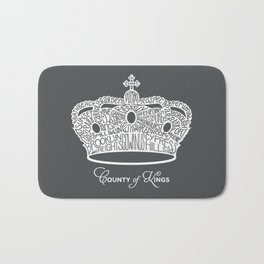 County of Kings | Brooklyn NYC Crown (WHITE) Bath Mat