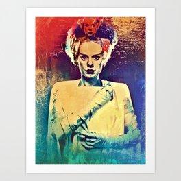 Bride of Frankenstein Vintage Art Print