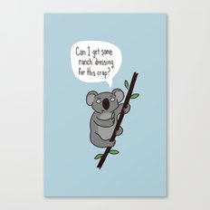 Koala Question Canvas Print