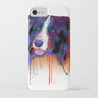 border collie iPhone & iPod Cases featuring Border Collie by Marlene Watson