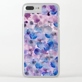Beautiful ink and watercolour spot pattern Clear iPhone Case