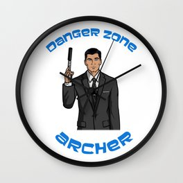 Danger Zone Wall Clock