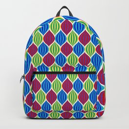 Retro Disco Jeweled Drops Pattern- Rainbow Backpack
