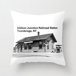 Addison Junction RR, Ticonderoga Throw Pillow