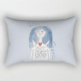 The Grumpy Angels- Just do your fucking best Rectangular Pillow