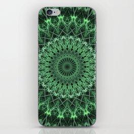 Mandala in different green tones iPhone Skin