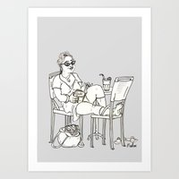 sci fi Art Prints featuring Sci Fi Afternoon by Madmi