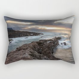Long Exposure Sunset in El Sauzal Rectangular Pillow