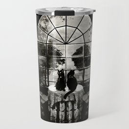 Room Skull B&W Travel Mug