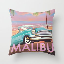 Malibu Los Angeles California Throw Pillow