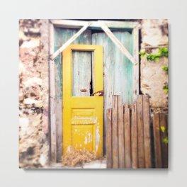 Yellow Door  Metal Print