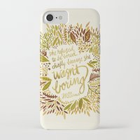 fitzgerald iPhone & iPod Cases featuring Zelda Fitzgerald – Fall Palette by Cat Coquillette