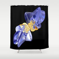bow Shower Curtains featuring Bow by lightningMade