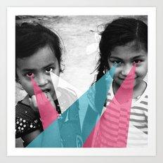 Nepal Eyes Art Print