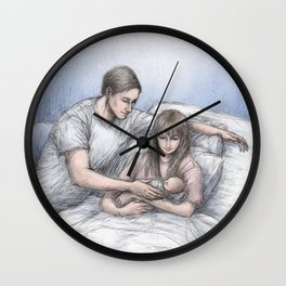 New family member Wall Clock