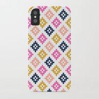 coachella iPhone & iPod Cases featuring Southwest - native aztec geometric pattern print desert tribe festival clothes coachella  by CharlotteWinter