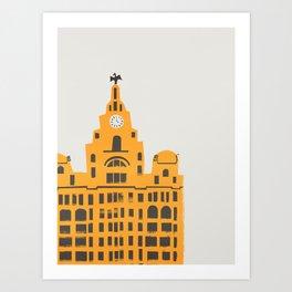 Liver Building Liverpool Art Print