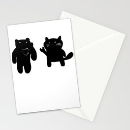 Bear and Cat Stationery Cards