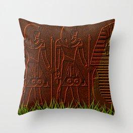 Ancient egyptian graffiti ... Throw Pillow