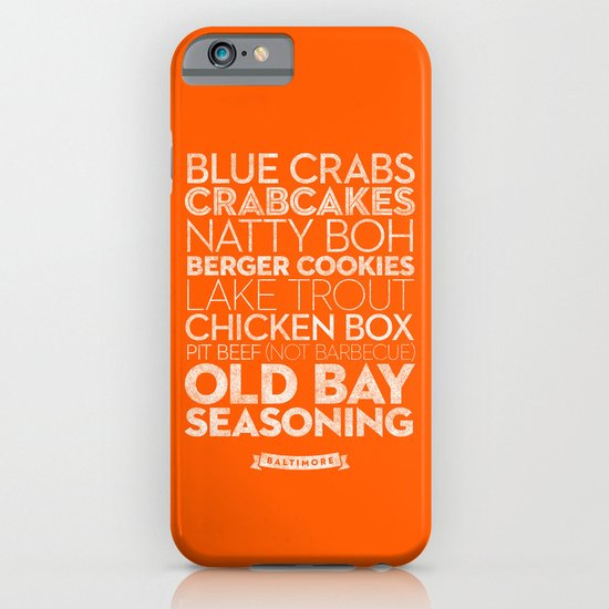 Baltimore — Delicious City Prints iPhone & iPod Case