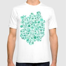 The Wonderful World of Succulents MEDIUM Mens Fitted Tee White