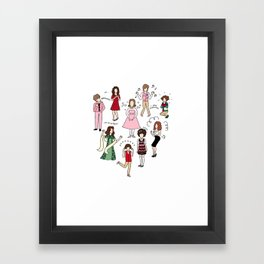 Kristen Wiig Characters Framed Art Print