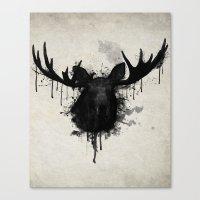 moose Canvas Prints featuring Moose by Nicklas Gustafsson