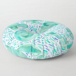 Mint shells Floor Pillow