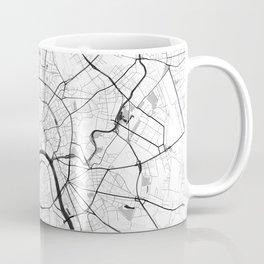 Moscow Map Gray Coffee Mug