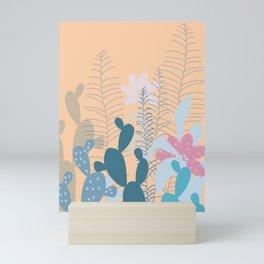 Blue Cacti Garden #Society6 #buyart #decor Mini Art Print