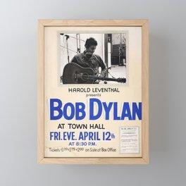 Vintage 1963 Bob Dylan Concert Poster Framed Mini Art Print