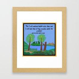 Jeremiah 30:17, KJV Framed Art Print
