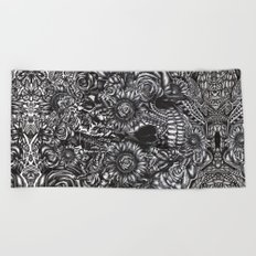 Sensory Overload Skull Beach Towel