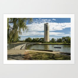 National Carillon Bell Tower, Canberra, Australia Art Print