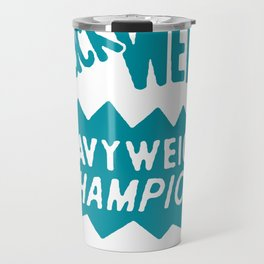 Boxing and Boxers: Chuck Wepney 70s Typography Travel Mug