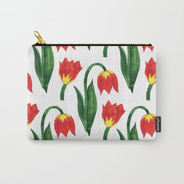 Watercolor Botanical Carry-All Pouch