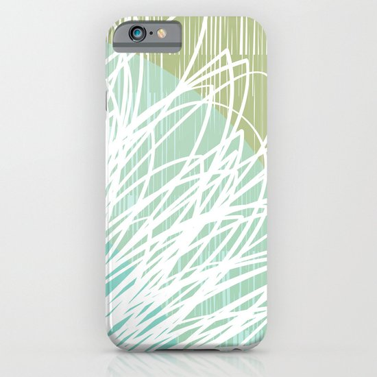 Doodle Flowers in Mint by Friztin iPhone & iPod Case