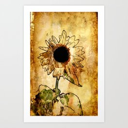 Sunflower Art Art Print
