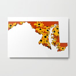 Black Eye Susan State Metal Print