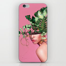 Lady Flowers VI iPhone Skin