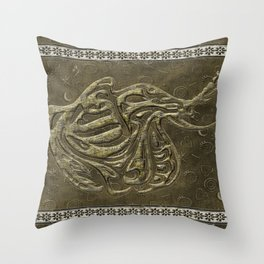 African elephant with ethnic motives V2 Throw Pillow