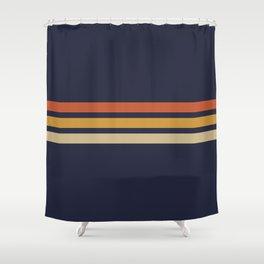 Vintage Retro Stripes Shower Curtain
